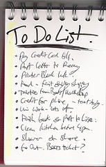 Keeping A Good To-do List